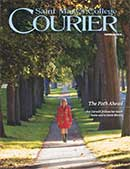 courier cover art for the fall 2016 issue