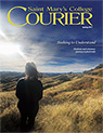 courier cover art for the spring 2017 issue