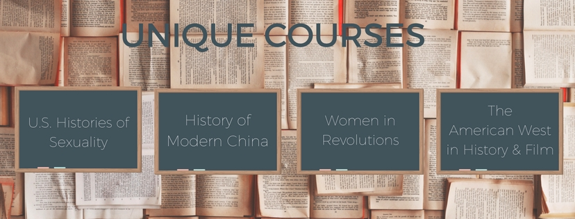 Unique courses offered by the history department