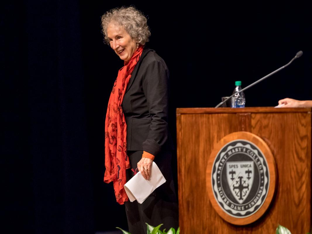 Margaret Atwood in O'Laughlin Auditorium