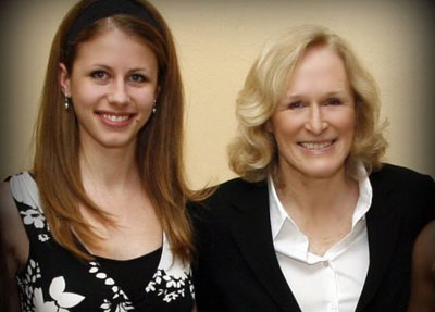 Theatre students with Glen Close