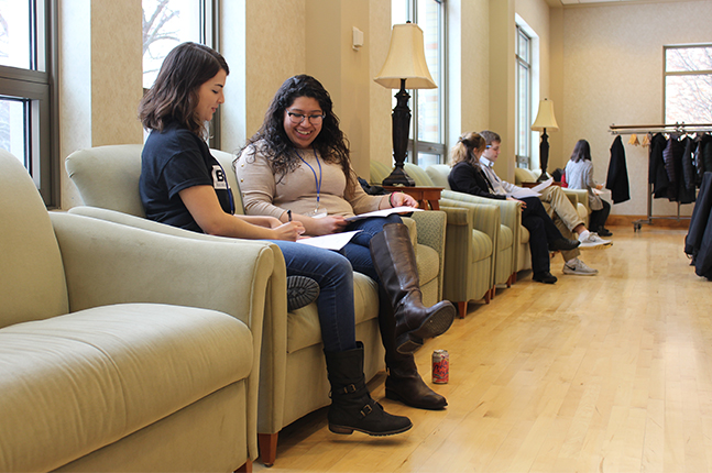 students discuss religious differences at conference