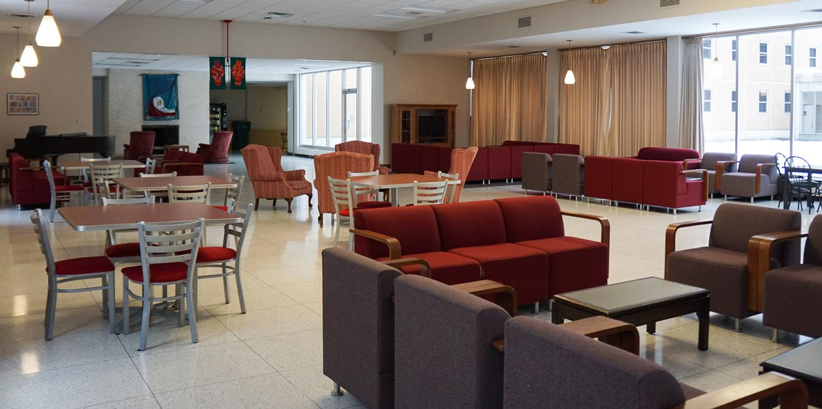Regina Lounge is a great place to study or hang out