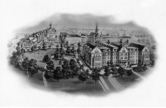 1903 campus illustration