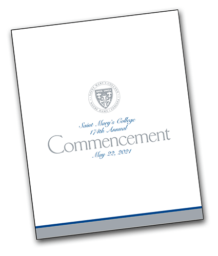 Cover of Commencement Program 2021