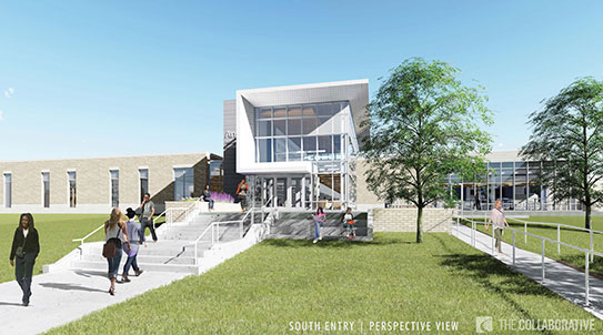 Rendering of future Angela Athletic and Wellness center