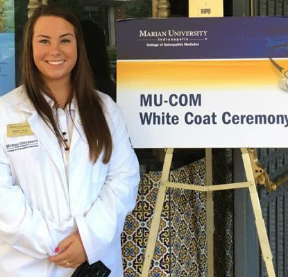 Elizabeth Chandler at White Coat Ceremony