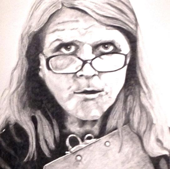pencil drawing: portrait of Julie