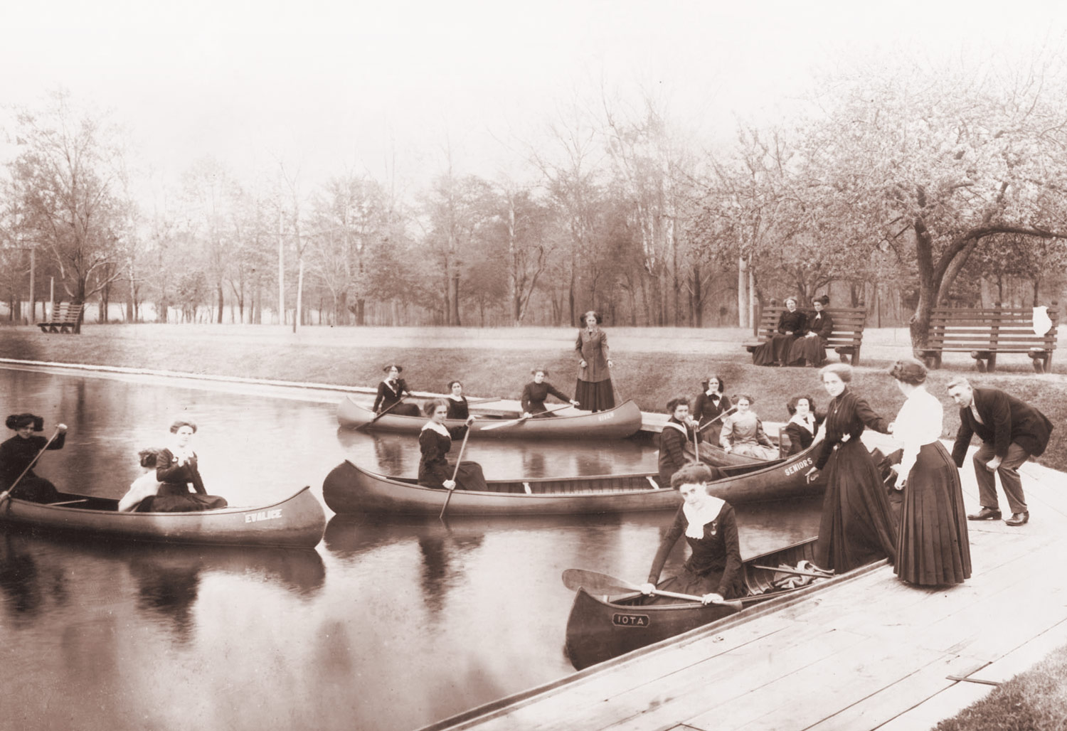Rowing in Lake Marian at Saint Mary