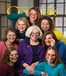 courier cover art for the spring 2016 issue