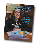 courier cover art for the spring 2008 issue