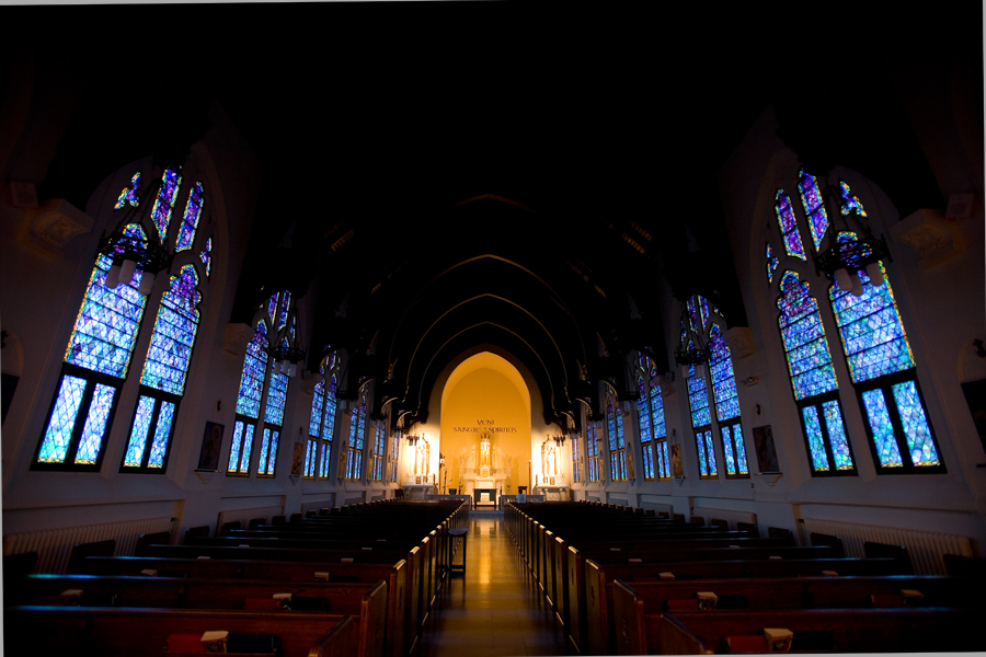 Holy Spirit Chapel in Le Mans Hall is one of several campus places of worship open to Saint Marys students.