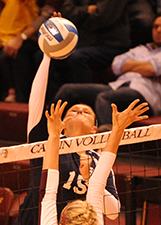 Meaghan Gibbons led the Belles in kills, digs, and blocks.
