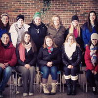 Golf team bundled up for St. Margaret's house winter walk