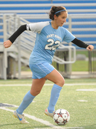 Mollie Valencia scored the lone goal of the game on penalty kick in the second overtime.