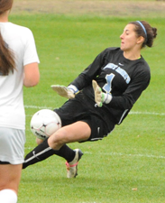 Natalie Warner makes the sliding save.