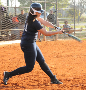 Jillian Busfield led the Belles' hitting efforts on the day at Carthage.