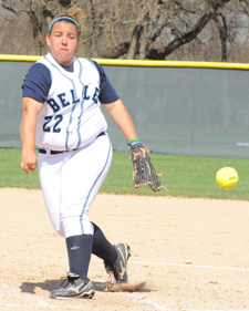 Callie Selner set the all-time career strikeout record in game one against Trine.