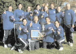 The Saint Mary's tennis team repeated as MIAA Champions in  2002.