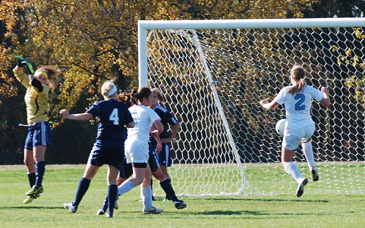 Kerry Green (2) settles the ball before scoring the eventual game-winner in the first half on Tuesday.