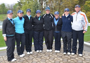 The Saint Mary's Golf Team is headed to the 2012 NCAA Division III Golf Championships. (photo courtesy Geoff Henson - Olivet College)