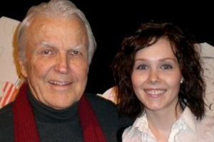 Actor Anthony Zerbe with Carly Sarachman '11