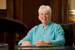 Saint Mary's College President Carol Ann Mooney