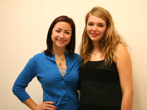 Cat Cleary '12 (left) and Laura Corrigan '13 were awarded a grant to initiate a sexual harassment awareness program at local high schools.