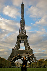 Chelsea visited Paris during her study abroad in Rome.