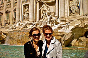 Chelsea Young, left, and her friend in Rome.