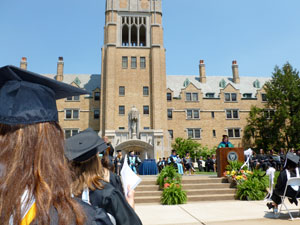 The 165th Commencement at Saint Mary's College, May 19, 2012.
