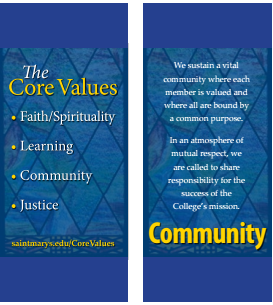 During the academic year 2015-2016, Saint Mary's College will focus on the Core Value of COMMUNITY