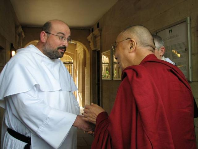 Fr. Gaines welcomes Dalai Lama