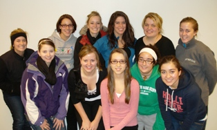 group shot of senior social work students