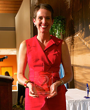 Hollye Harrington Jacobs '93, the 2013 recipient of the Alumna Achievement Award