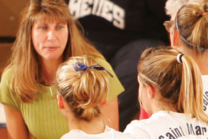 Julie coaching students