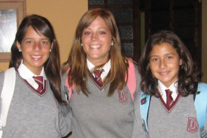 Kate Park with fellow students in Chile