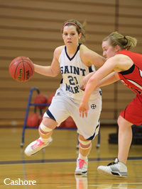 Maggie Ronan scored a career-high 31 points in the Belles' win over Olivet.