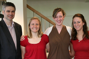Bogdan Vajiac, Ashley Crish '11, Mary Zahm '10, and Emily Gore '11