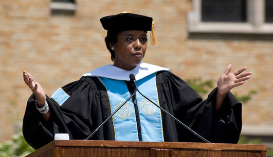 Commencement Speaker Mellody Hobson offers her insights to the Class of 2012.