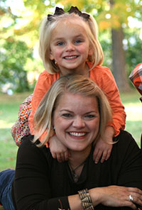 """Pictured are Molly Schleeter Bell and her six-year-old daughter, Julia. Molly, an alumna of Saint Mary's College, will host a one-day seminar at the college titled """"Bloom for Girls."""" As a mother of a girl, Molly is passionate about promoting girls' self e"""