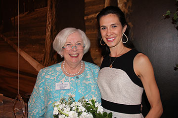 Outstanding Young Alumna Award recipient Jill Moore Clouse '99 poses with Saint Mary's College President Carol Ann Mooney.