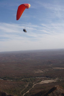 Morgan Bedan took full advantage of her time in Argentina, which meant leaping at the chance to paraglide.