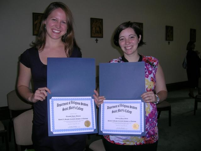 elizabeth bajema '11 and rebecca jones '12