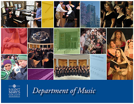 cover art of the music department brochure