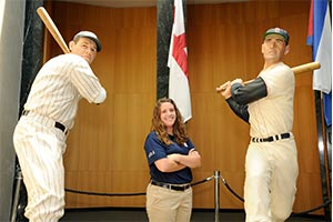 Nichole was one of the few students selected for the National Baseball Hall of Fame internship from a pool of about 500 applicants.