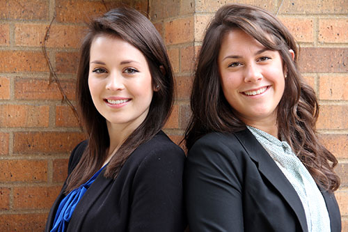 Annie Kennedy '14, left, and Sara Napierkowski '14 are among the 2014 Orr Fellows recently announced.