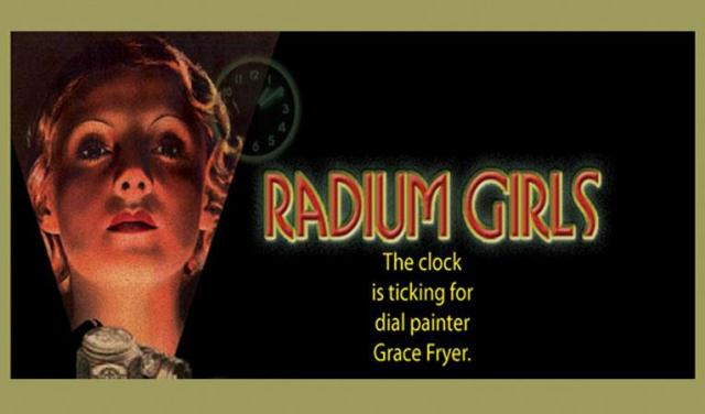 Radium Girls Poster - the clock is ticking for dial painter Grace Fryer