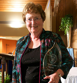 Mary Rainey '63, 2013 recipient of Humanitas Award