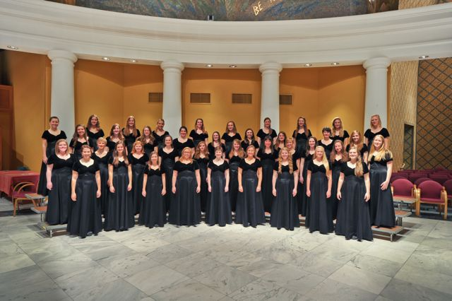 group photo of the women's choir